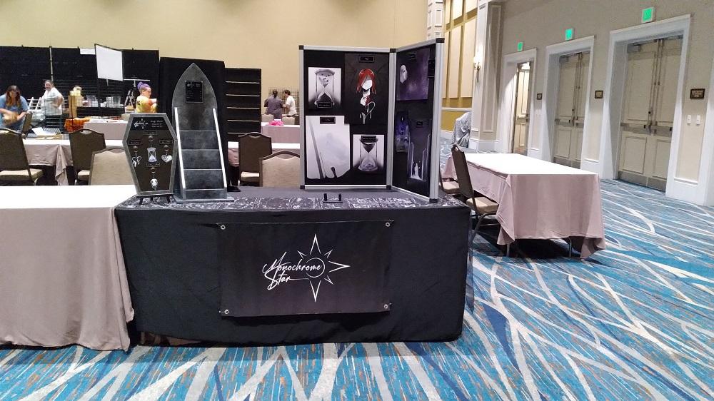 Monochrome Star table at Fantasm, 2021